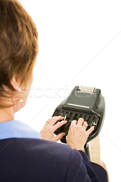 Court Reporter - Over Shoulder Stock photo © lisafx