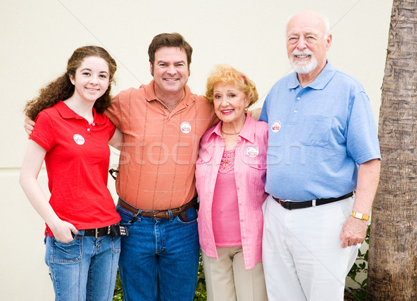 Family That Votes Together Stock photo © lisafx