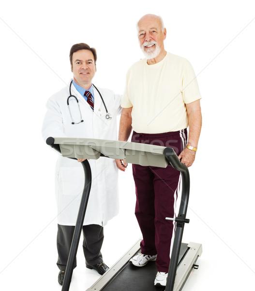 соответствовать старший человека врач бегущая дорожка Сток-фото © lisafx