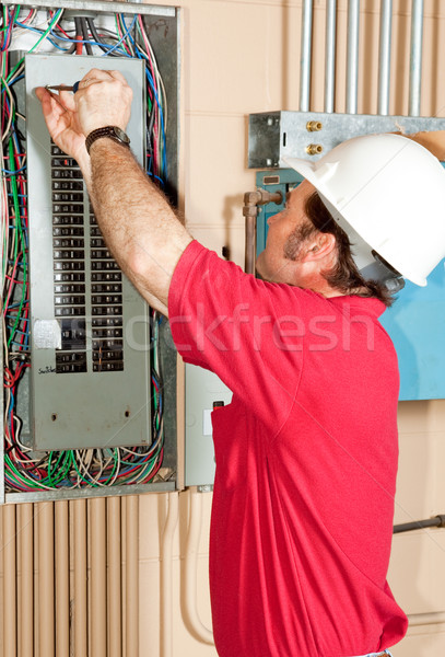 Master Electrician Working Stock photo © lisafx