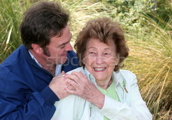 Madre figlio affetto bella senior donna Foto d'archivio © lisafx