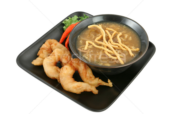 Soup & Shrimp with Clipping Path Stock photo © lisafx