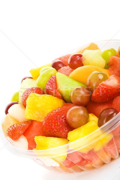 Tropische vruchten salade heerlijk kleurrijk witte voedsel Stockfoto © lisafx