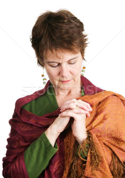 Stock fotó: ír · katolikus · nő · ima · csinos · középkorú
