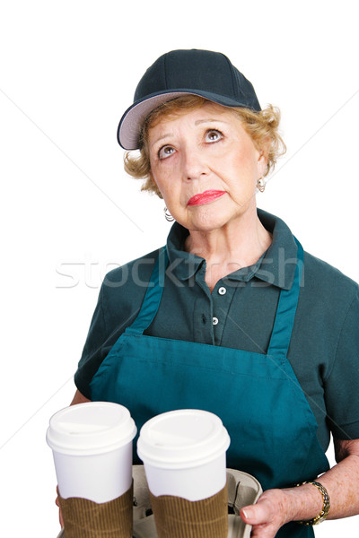 Senior Woman Barrista Stock photo © lisafx