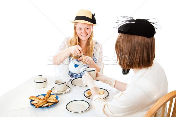 Teen Tea Party - Pouring Stock photo © lisafx