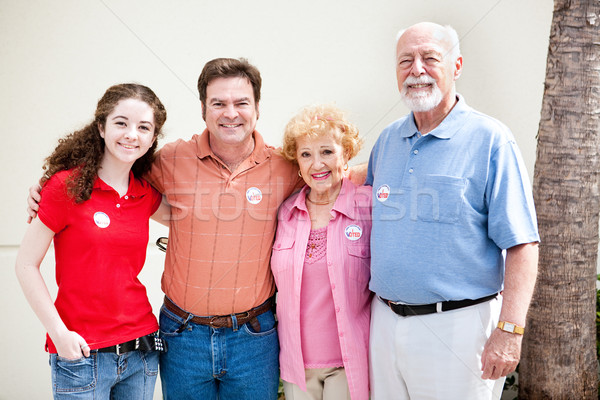 Stock photo: Election Day - Family Votes
