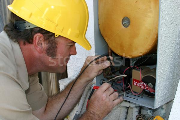 Air Conditioning Repairman Working Stock photo © lisafx
