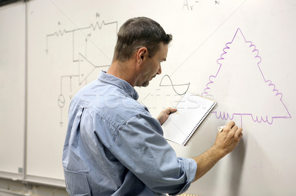Adult Education - Electrical Diagram Stock photo © lisafx