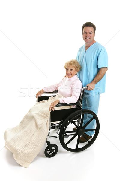 Disabled Senior & Nurse Profile Stock photo © lisafx