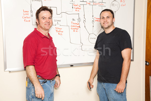 Engineering Student and Teacher Stock photo © lisafx