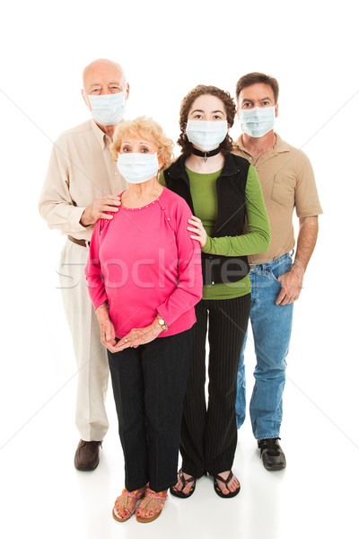 Járvány aggódó család egészség egészalakos izolált Stock fotó © lisafx
