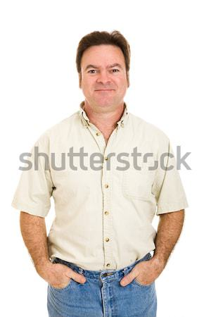 Düzenli adam yakışıklı adam erken kırk yaşlarında Stok fotoğraf © lisafx