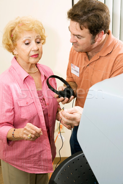 Voting Series - Assistance for Seniors Stock photo © lisafx
