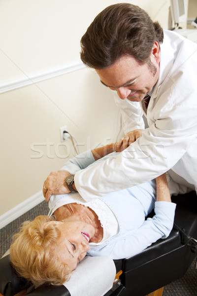 Chiropractor Relieves Pain Stock photo © lisafx