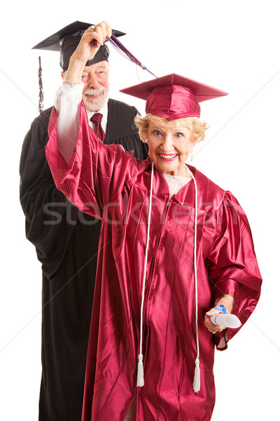 Senior Woman at Her Graduation Ceremony Stock photo © lisafx
