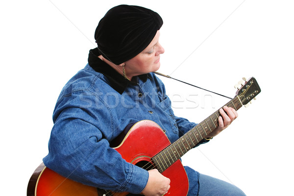 Cancer Survivor Playing Guitar Stock photo © lisafx