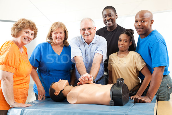 Class on CPR and First Aid Stock photo © lisafx