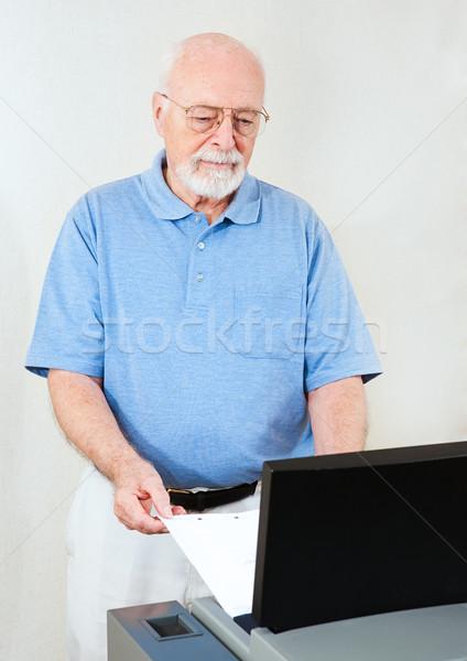 Election Senior Man Votes Stock photo © lisafx