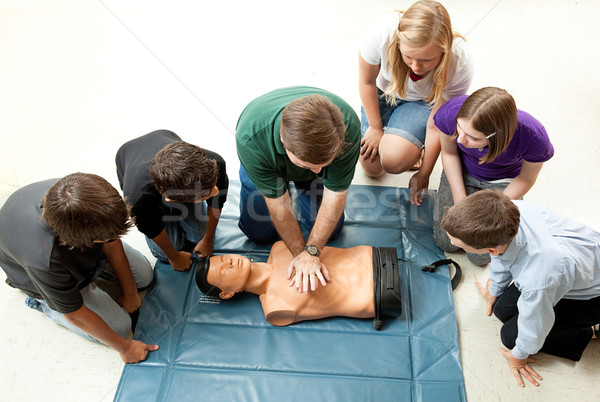 Group of Teens Take CPR Class Stock photo © lisafx
