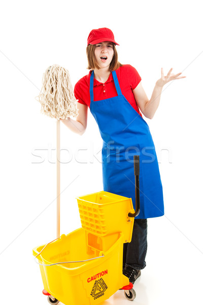 Frustrated Teenage Worker Stock photo © lisafx