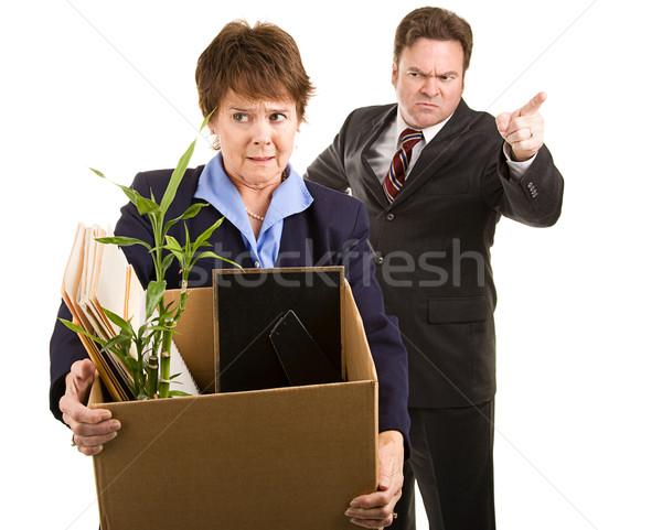Job Corporate Mitarbeiter halten Karton Chef Stock foto © lisafx