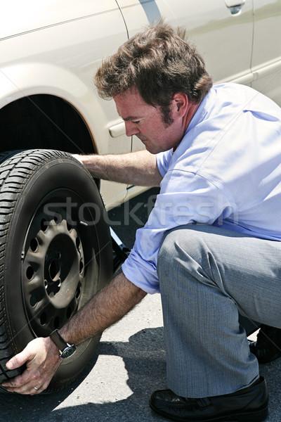 Flat Tire - Dirty Job Stock photo © lisafx
