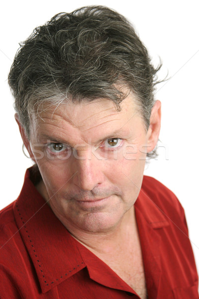Mature Man Intense Stock photo © lisafx