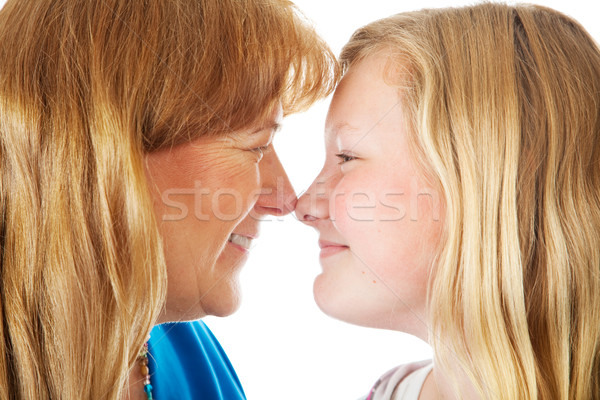 Mom and Daughter Face Off Stock photo © lisafx