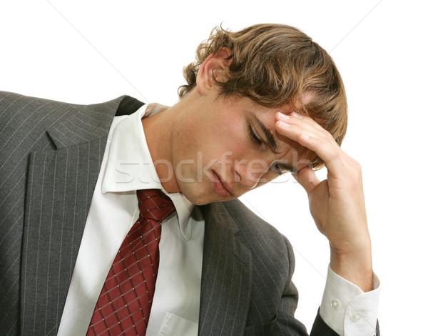 Accablé Emploi stress jeunes affaires affaires Photo stock © lisafx