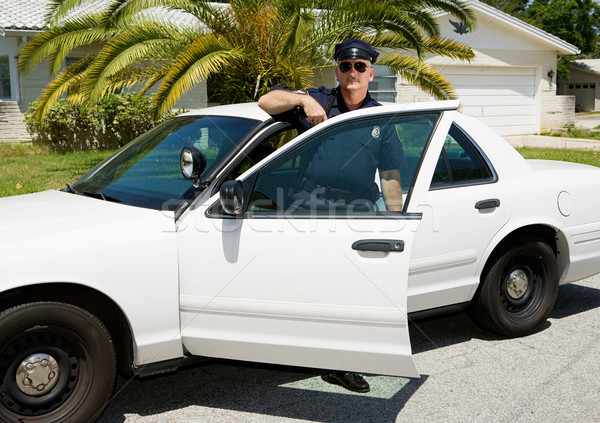 Police - Officer & Police Car Stock photo © lisafx