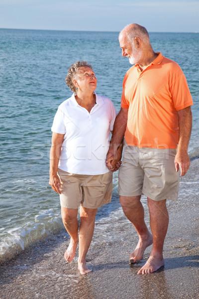 Seniors - Romance on the Beach Stock photo © lisafx