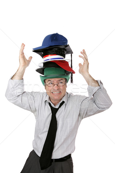 Wearing Too Many Hats Stock photo © lisafx