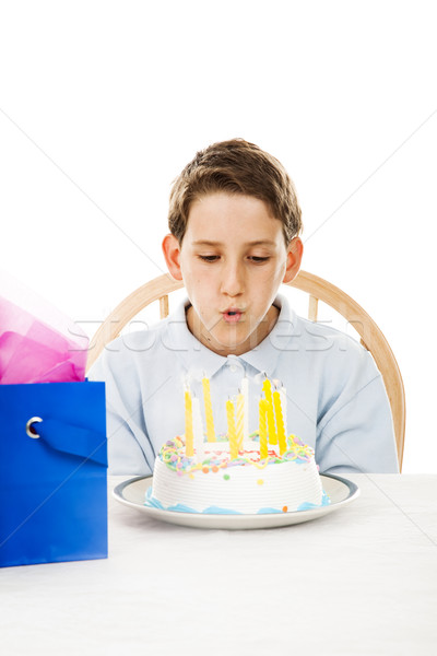 Blowing Out Birthday Candles Stock photo © lisafx