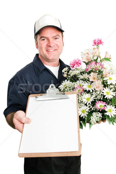 Fresh Flowers Delivered with Message For You Stock photo © lisafx