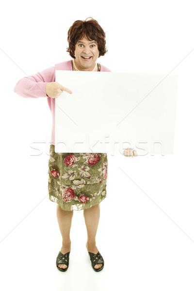 Cross Dresser with Message Stock photo © lisafx