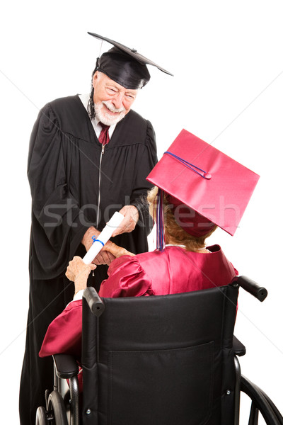 Senior Graduate in Wheelchair Stock photo © lisafx