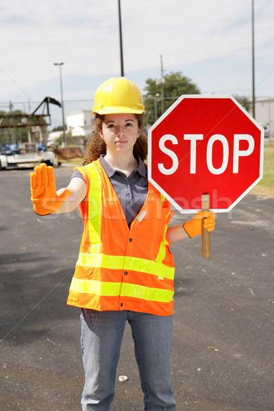 Construction Site Stop Stock photo © lisafx