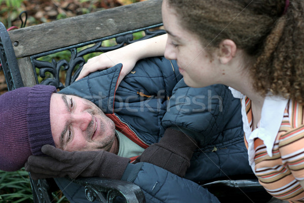 Help For Homeless Man Stock photo © lisafx