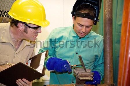 Controle de qualidade metal compras controlar trabalhar profissional Foto stock © lisafx
