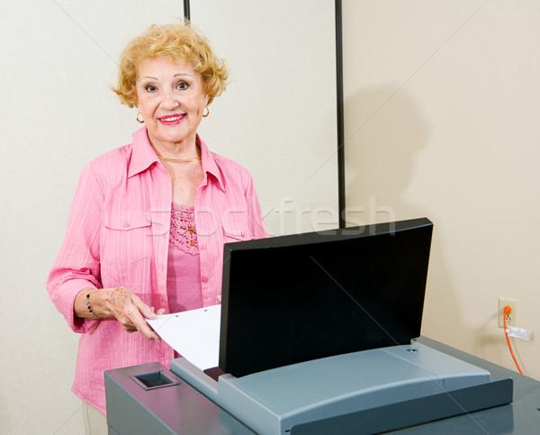 Senior Woman at Polls Stock photo © lisafx
