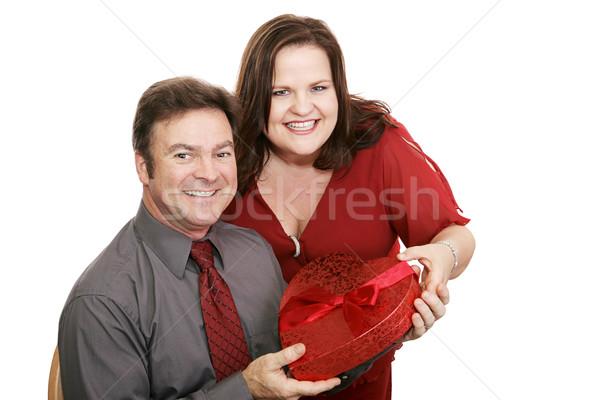 Valentine Chocolates for Him Stock photo © lisafx