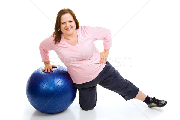 Workout With Fitness Ball Stock photo © lisafx