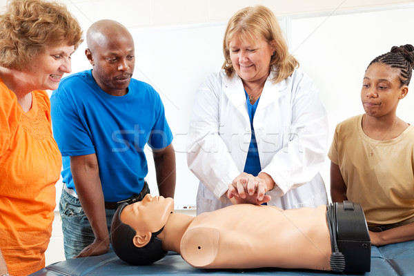 Adult Education Students Learn CPR Stock photo © lisafx