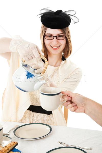 Tea Party - Teen Serves Tea Stock photo © lisafx