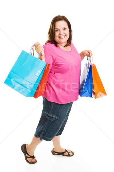Koopje klant mooie vrouw opgewonden Stockfoto © lisafx