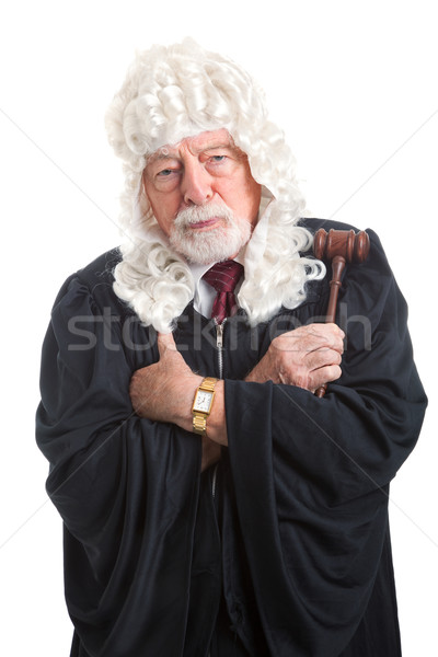 British Judge - Stern and Serious Stock photo © lisafx