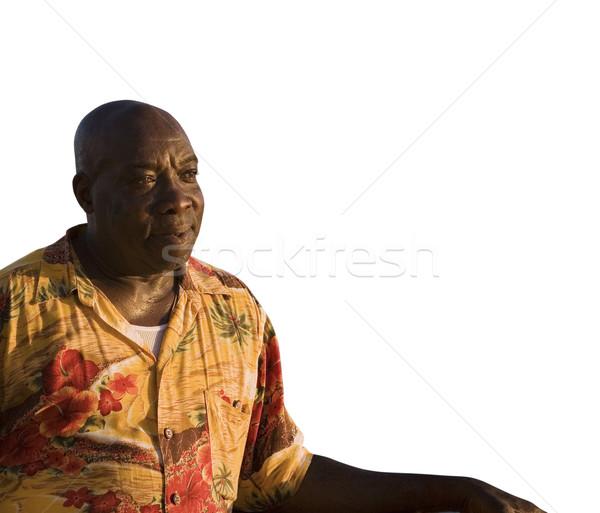 Карибы человека копия пространства белый комнату текста Сток-фото © lisafx