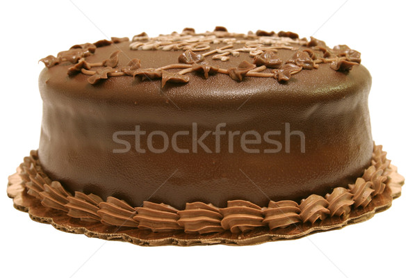 Chocolate Fudge Cake Isolated Stock photo © lisafx