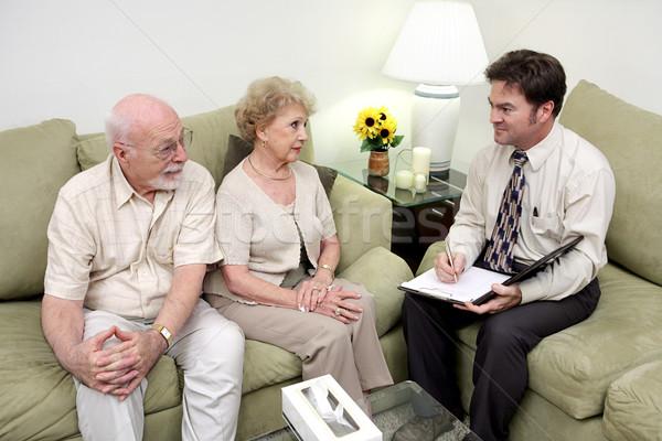 De vendas chamar casamento conselheiro vendedor reunião Foto stock © lisafx